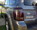 2008-2012 FORD ESCAPE SMOKE TAIL LIGHT PRECUT TINT COVER SMOKED OVERLAYS