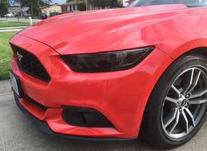 2015-2017 FORD MUSTANG SMOKE HEAD LIGHT TINT COVER SMOKED OVERLAYS