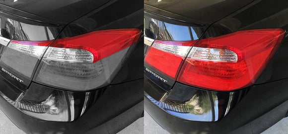 2013-2015 HONDA ACCORD SEDAN TAIL LIGHT PRECUT REDOUT TINT OVERLAYS