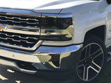 2016-2018 CHEVY SILVERADO SMOKE HEAD LIGHT PRECUT TINT COVER SMOKED OVERLAYS