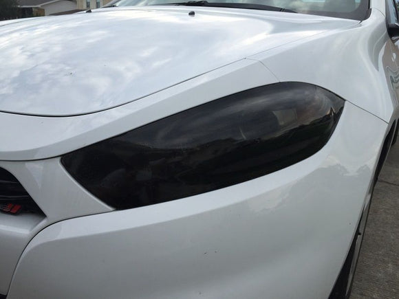 2013-2016 DODGE DART HEADLIGHT PRECUT TINT OVERLAYS