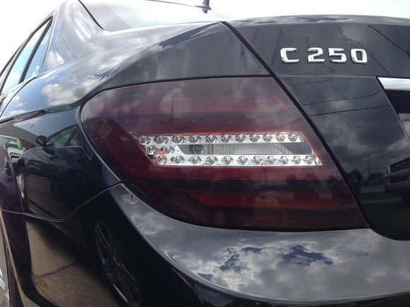 2012-2014 MERCEDES C-CLASS TAIL LIGHT PRECUT TINT OVERLAYS