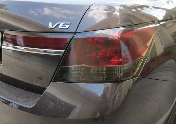 2008-2012 HONDA ACCORD SEDAN TAIL LIGHT PRECUT TINT OVERLAYS