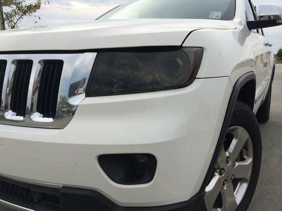 2011-2013 JEEP GRAND CHEROKEE HEADLIGHT & FOG LIGHT PRECUT TINT OVERLAYS