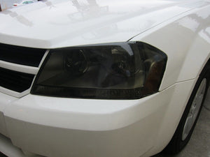 2008-2014 DODGE AVENGER SMOKE HEADLIGHT PRECUT TINT COVER SMOKED OVERLAYS