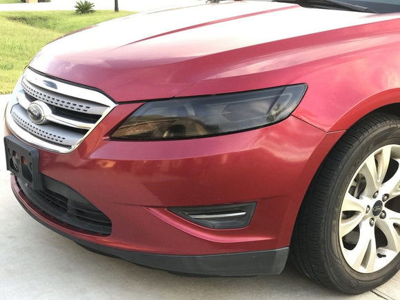 2010-2012 FORD TAURUS SMOKE HEADLIGHT PRECUT VINYL TINT SMOKED OVERLAYS