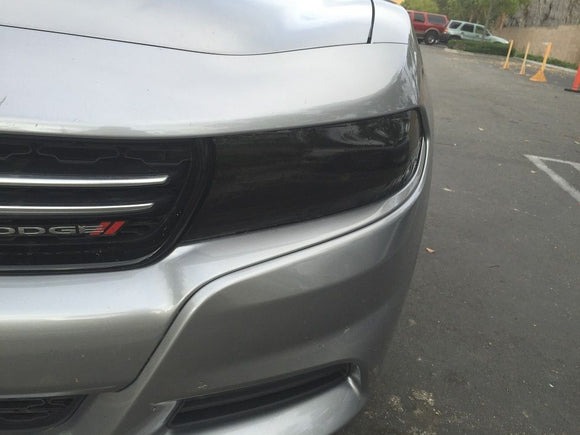 2015-2019 DODGE CHARGER HEADLIGHT PRECUT TINT OVERLAYS