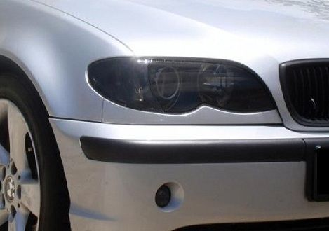 2002-2005 BMW 3 SERIES SEDAN HEADLIGHT PRECUT TINT OVERLAYS