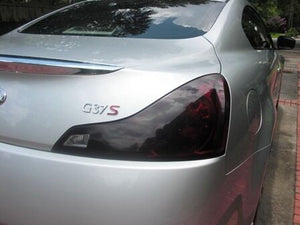 2008-2013 INFINITI G37 COUPE TAIL LIGHT PRECUT TINT OVERLAYS w/REVERSE LIGHT CUTOUT