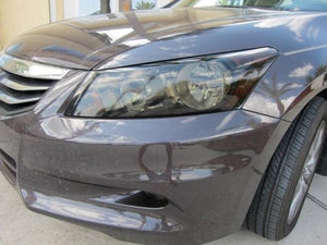 2008-2012 HONDA ACCORD SEDAN HEADLIGHT PRECUT TINT OVERLAYS
