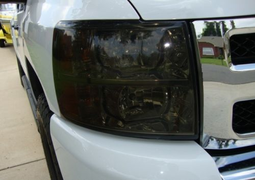 2007-2013 GMC SIERRA HEADLIGHT PRECUT TINT OVERLAYS
