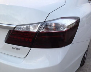 2013-2015 HONDA ACCORD SEDAN TAIL LIGHT w/CUTOUT PRECUT TINT OVERLAYS