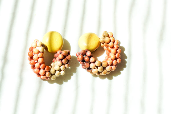 Wooden Bead Hoops