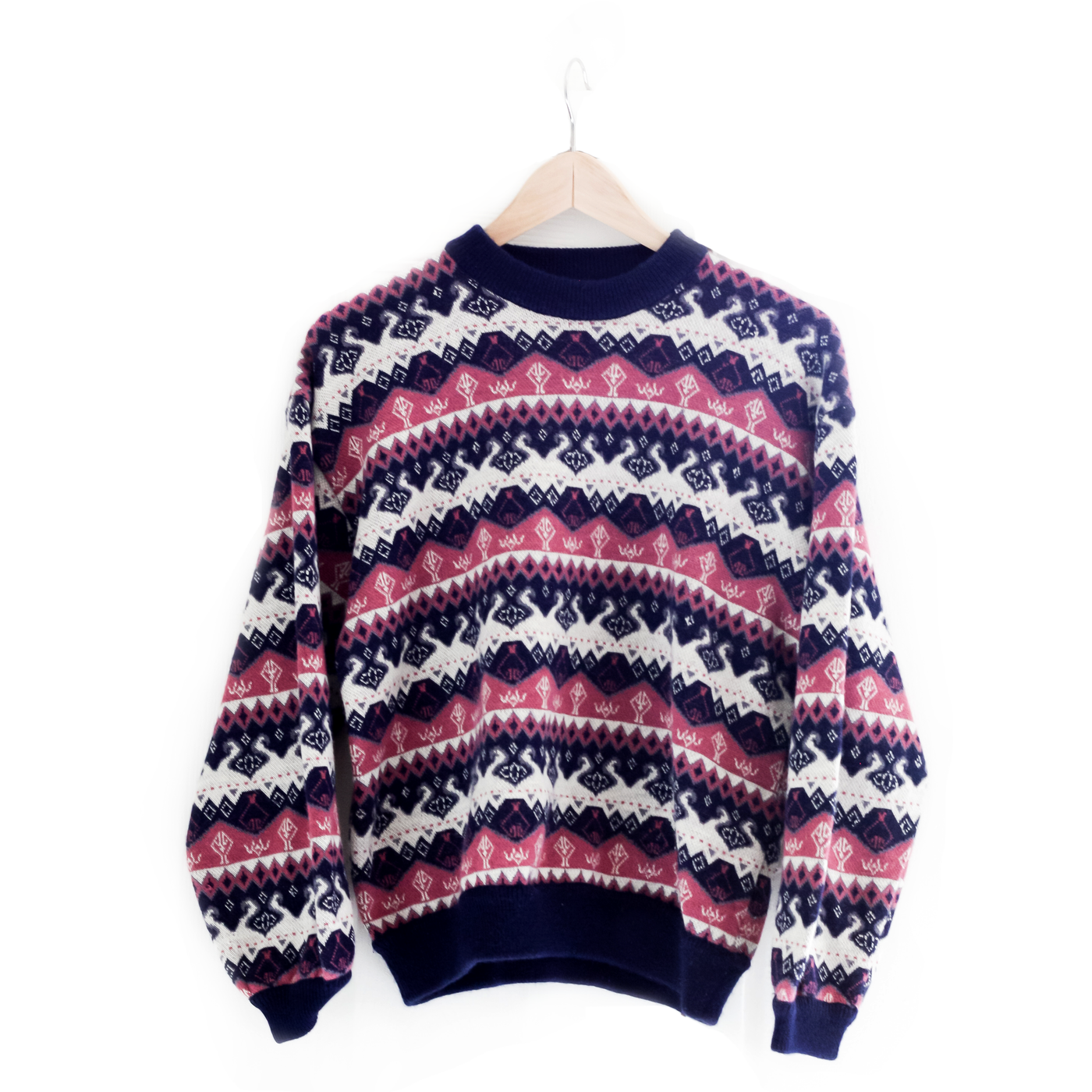 Pink & Blue Nordic Sweater