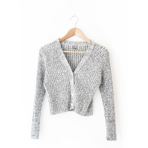 Silver Cropped Cardi