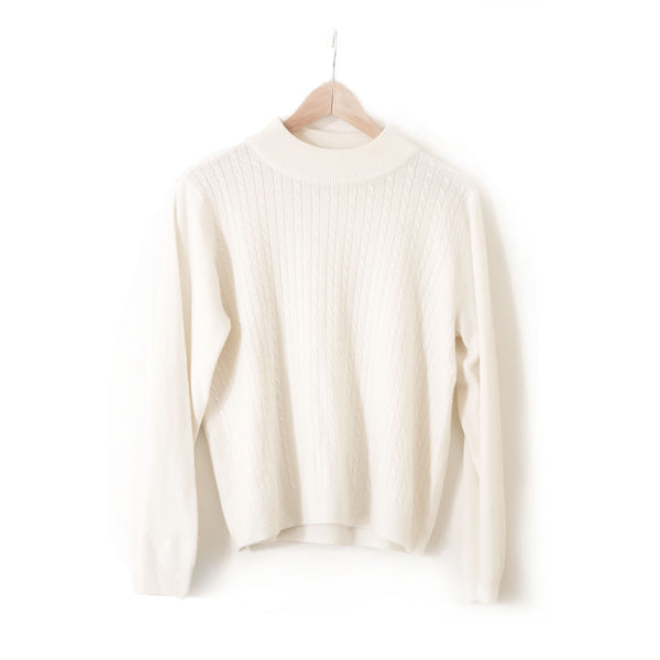 Soft-White Cable Sweater