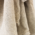detail image of cream colored skirt, vintage Liz Claiborne
