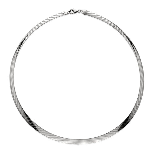 White Gold Omega Collar Necklace