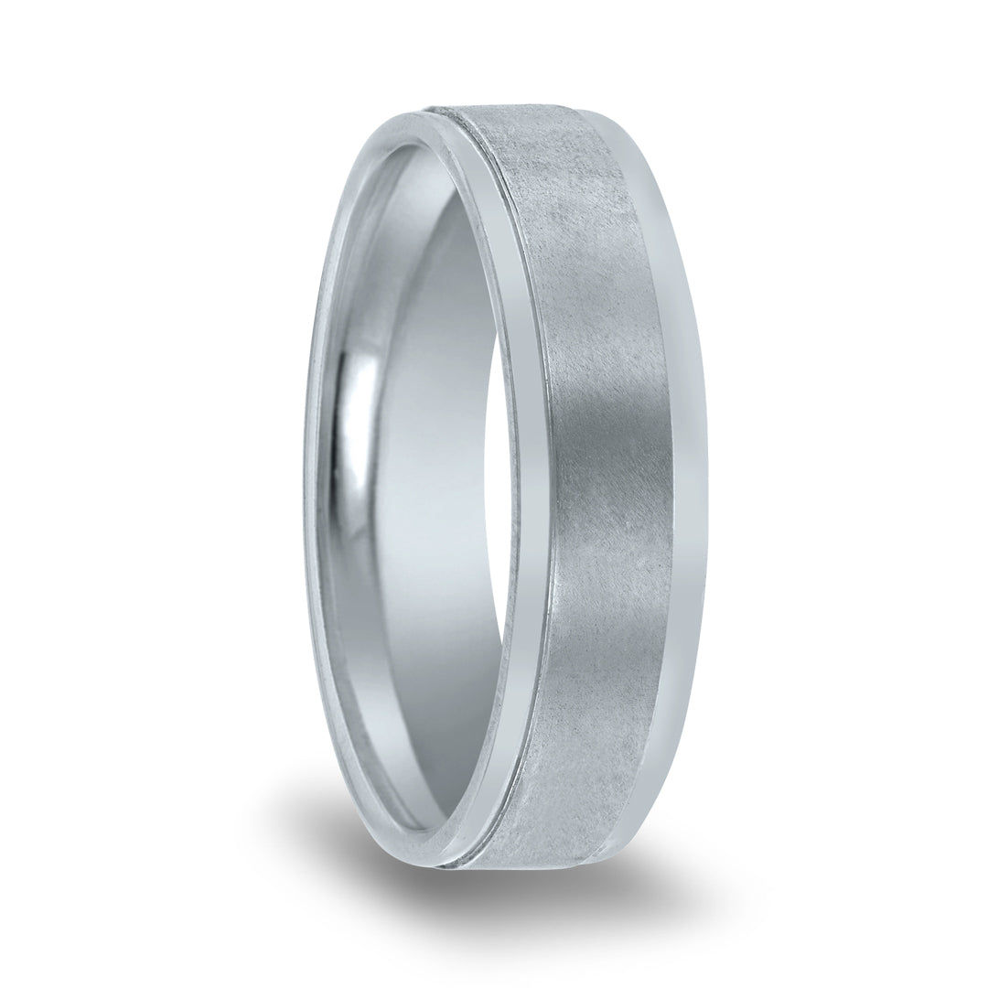 Polished Edge Matte Center Band