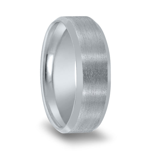 Beveled High Polished Edge Brushed Center Band