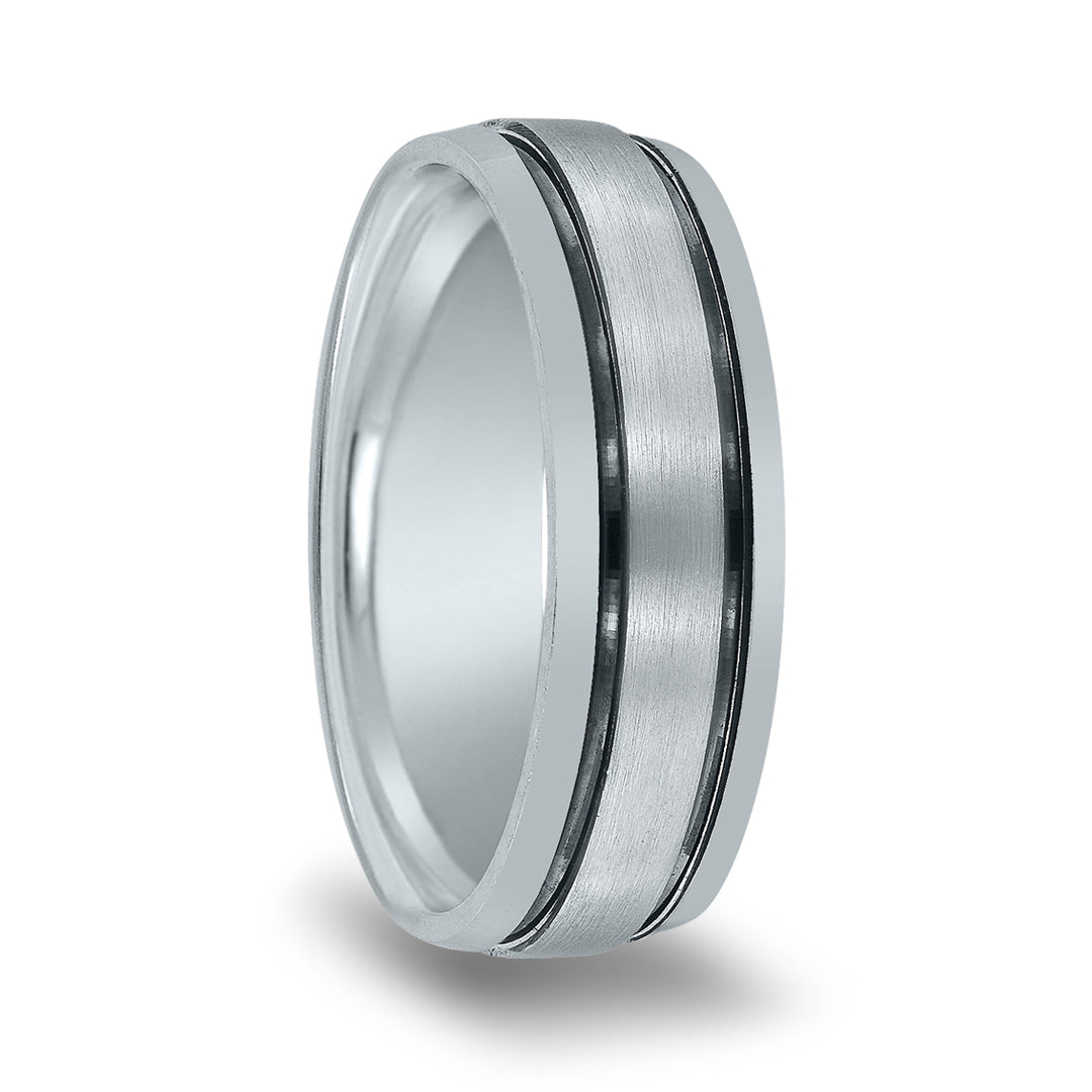 Matte Center Groove & High Polished Edge Band