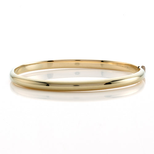 High Polished Rounded Bangle Bracelet