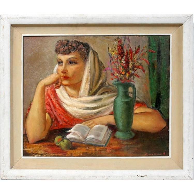 "Howard Church - ""Girl with Book"""