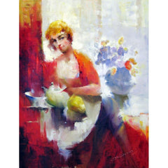 "David Han - ""Lady with Pear"""