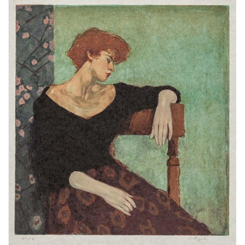 "Malcolm T Liepke - ""Seated Profile"""