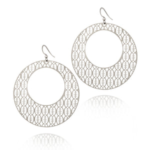 Load image into Gallery viewer, Friendship Round Hoop Drop Earrings