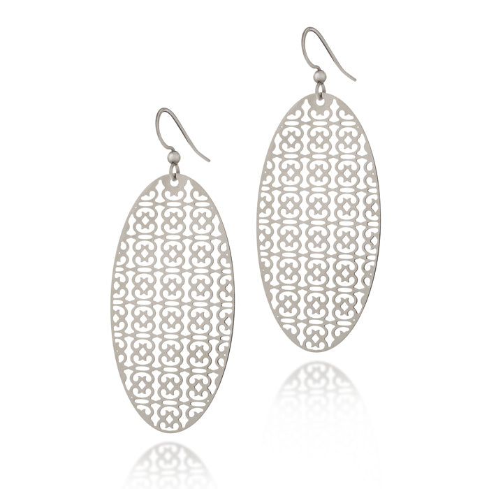 Load image into Gallery viewer, Endurance Oval Drop Earrings