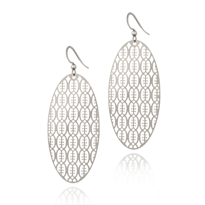 Load image into Gallery viewer, Friendship Oval Drop Earrings