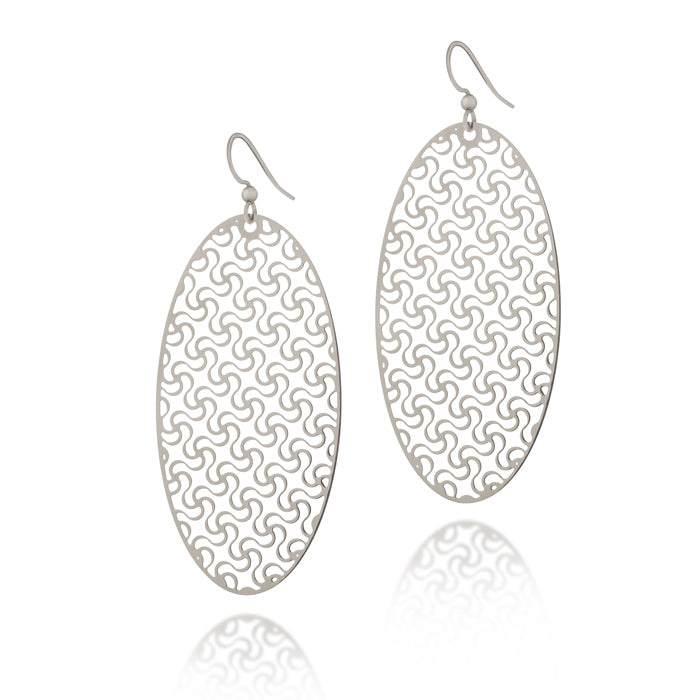 Loyalty Oval Drop Earrings
