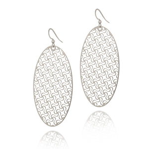 Load image into Gallery viewer, Loyalty Oval Drop Earrings