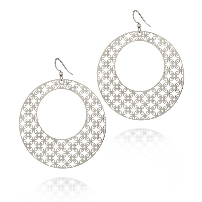Greatness Round Hoop Drop Earrings