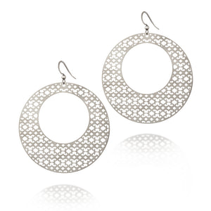 Load image into Gallery viewer, Strength Round Hoop Drop Earrings