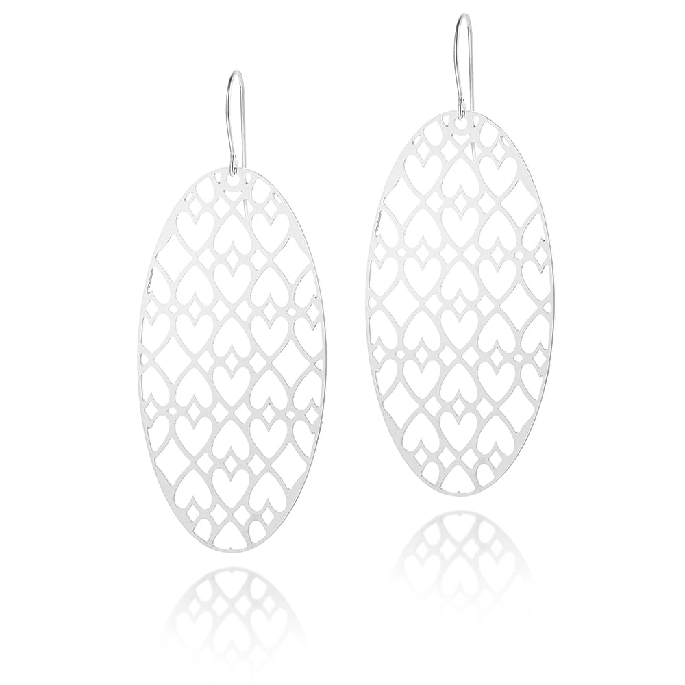 Patience Oval Drop Earrings