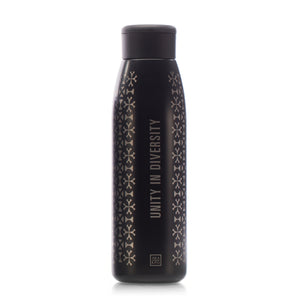 Load image into Gallery viewer, Unity in Diversity 18 oz. Copper-Lined Bottle in Black