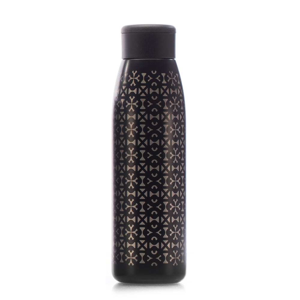 Unity in Diversity 18 oz. Copper-Lined Bottle in Black