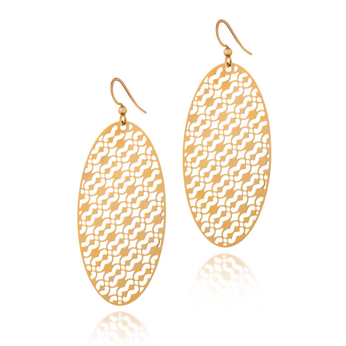 Unity Oval Drop Earrings