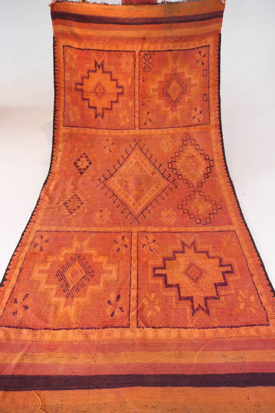 Vintage Moroccan Orange Imlil Rug