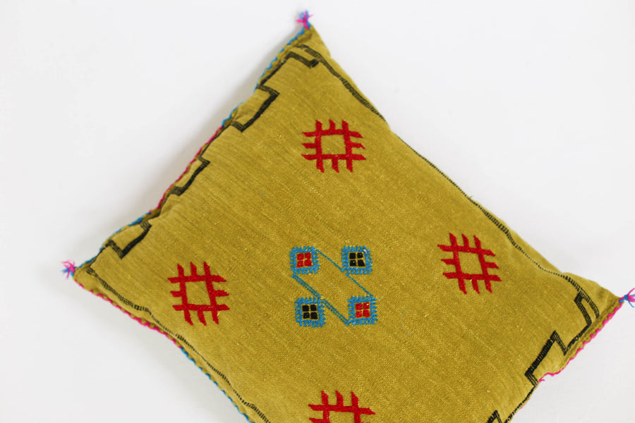 Moroccan Chenille Embroidered Pillows