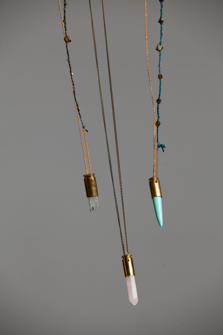 Clear Quartz Bullet Necklace