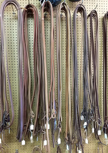 8' Harness Leather Split Reins