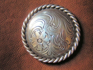 Antique Silver with Rope Edge Concho