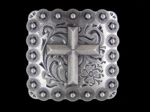 Antique Silver Cross Concho