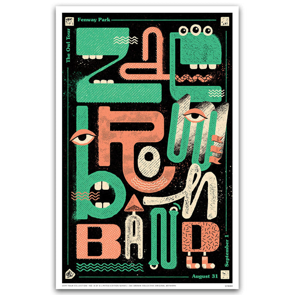 2019 Zac Brown Band Tour Print #8