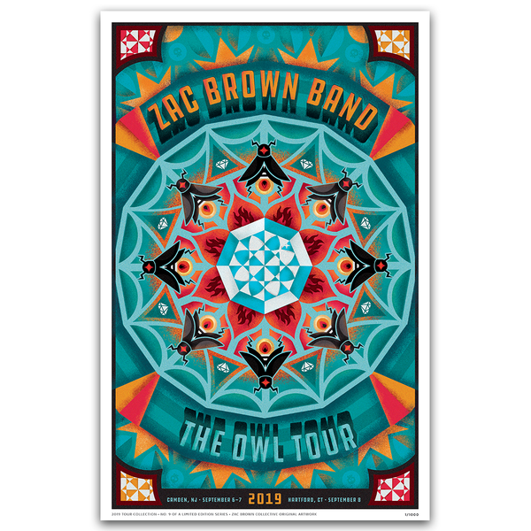 2019 Zac Brown Band Tour Print #9