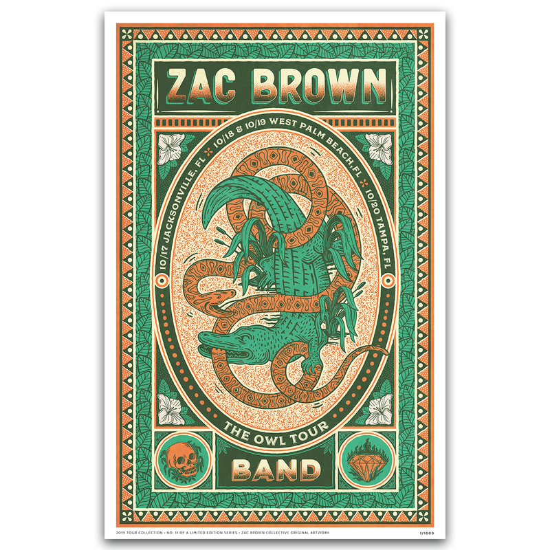2019 ZAC BROWN BAND TOUR PRINT #11