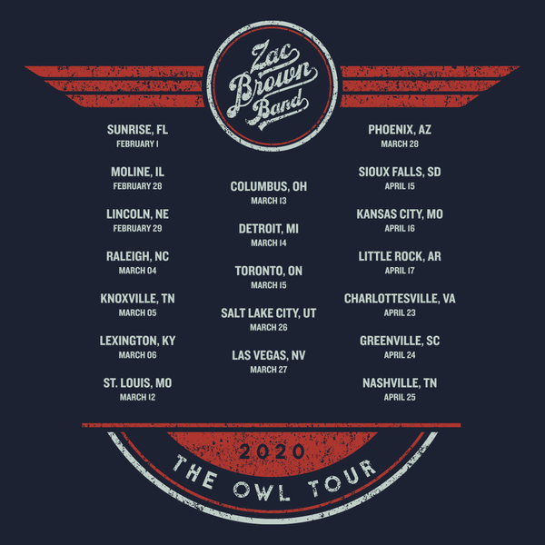 2020 The Owl Tour T-Shirt - Premium
